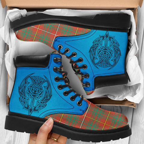 Bruce Ancient Tartan All-Season Boots - Celtic Thistle TH8