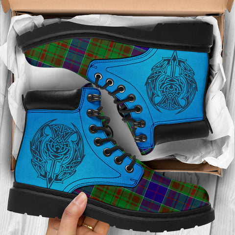 Image of Adam Tartan All-Season Boots - Celtic Thistle TH8