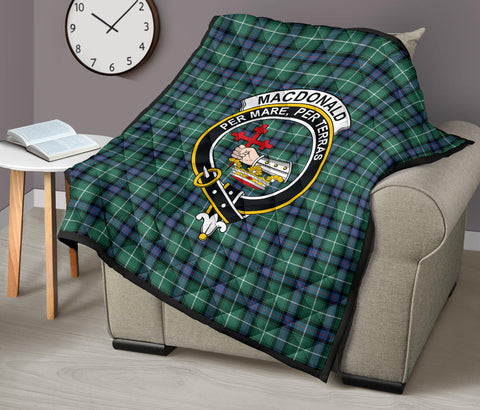 MacDonald of the Isles Hunting Ancient Tartan Clan Badge Premium Quilt TH8