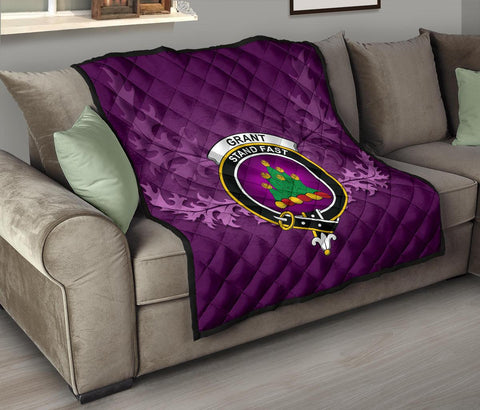 Image of Grant Ancient Crest Violet Quilt