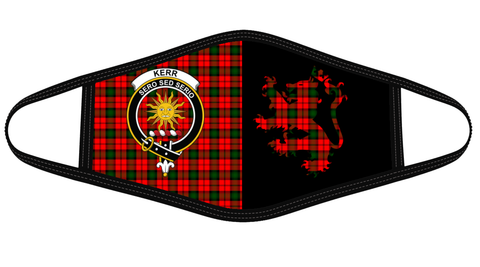 Kerr Modern Clan Badge Lion Mask Tartan Version 2 K6