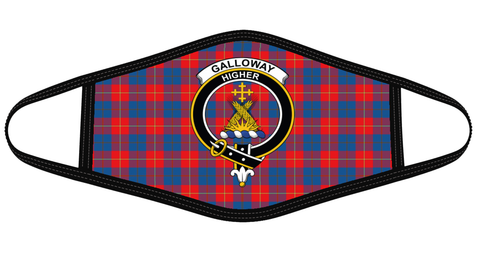 Galloway Red Clan badge Tartan Mask K7