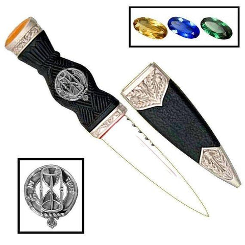 Houston Tartan Clan Crest Sgian Dubh Scottish Knife | Scottish Clans