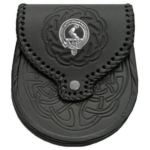 Armstrong Badge Leather Sporran | scottishclans.co