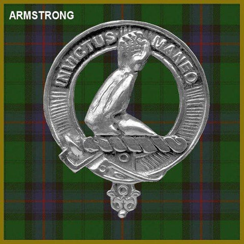 Armstrong Tartan Clan Crest Badge Leather Sporran TH8