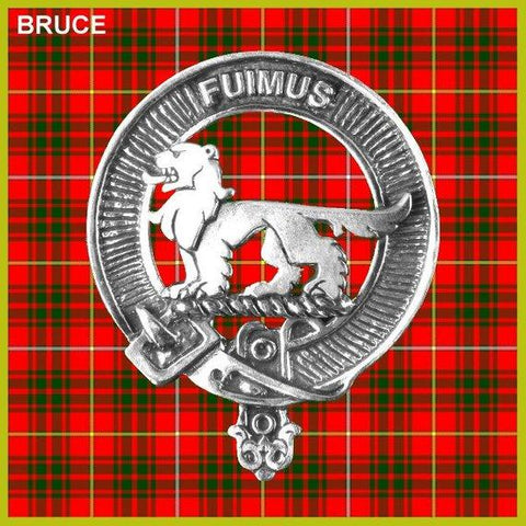 Bruce Tartan Clan Crest Badge Leather Sporran TH8