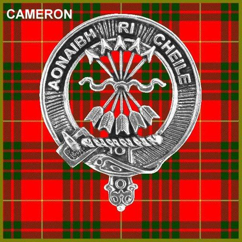 Cameron Tartan Clan Crest Badge Leather Sporran TH8