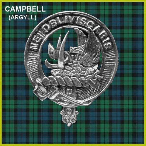 Campbell (Argyll) Tartan Clan Crest Badge Leather Sporran TH8