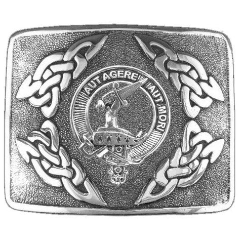 Barclay Clan Crest Interlace Kilt Buckle