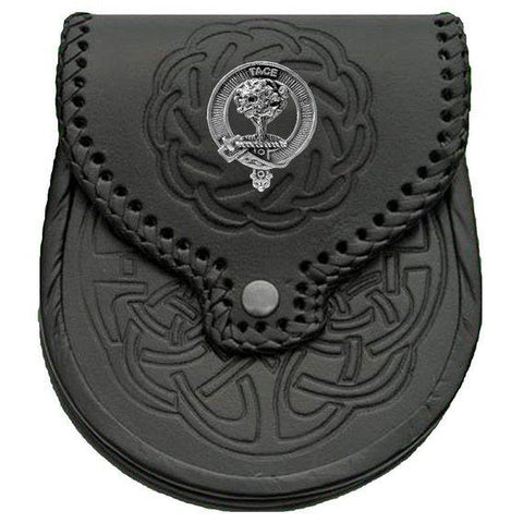 Abercrombie Badge Leather Sporran | scottishclans.co