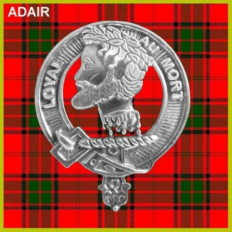 Adair Tartan Clan Crest Interlace Kilt Belt Buckle TH8