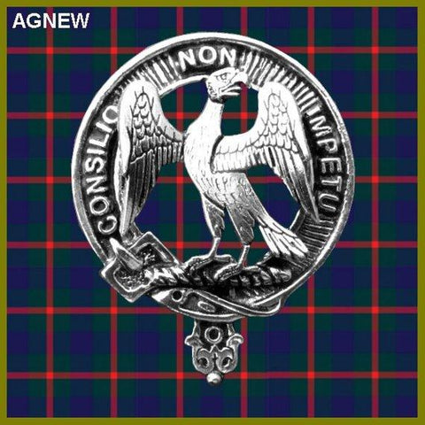 Agnew Tartan Clan Crest Interlace Kilt Belt Buckle