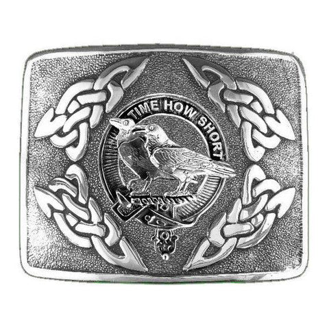 Akins Clan Crest Interlace Kilt Buckle | Scottish Clans