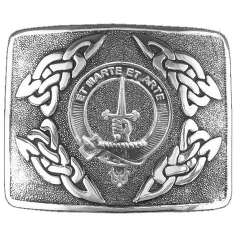 Bain Clan Crest Interlace Kilt Buckle