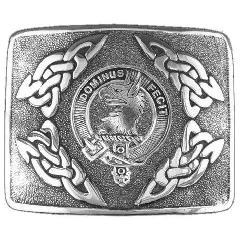 Baird  Clan Crest Interlace Kilt Buckle | Scottish Clans