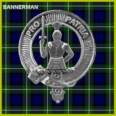 Bannerman Tartan Clan Crest Interlace Kilt Belt Buckle