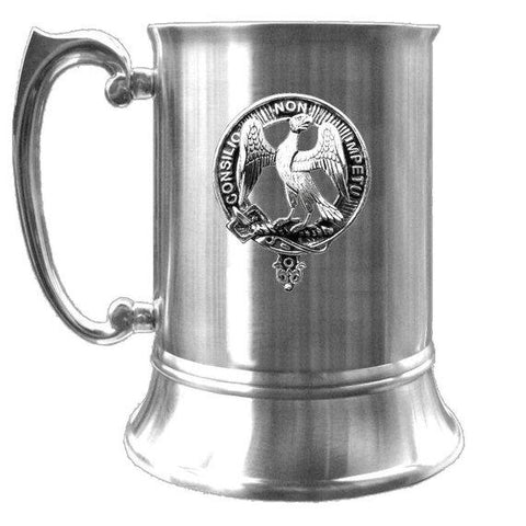 Agnew Tartan Scottish Clan Crest Badge Tankard | scottishclans.co