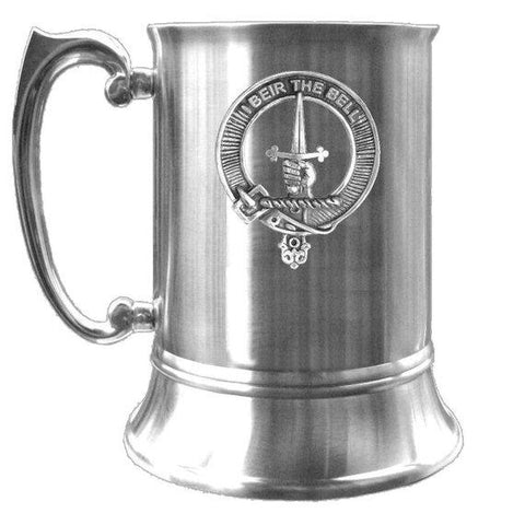Bell Tartan Scottish Clan Crest Badge Tankard | scottishclans.co