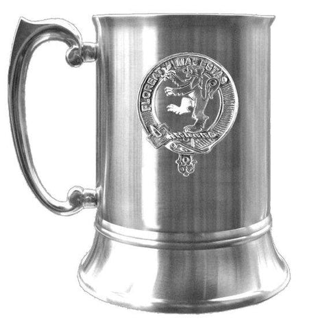 Brown Tartan Scottish Clan Crest Badge Tankard | scottishclans.co