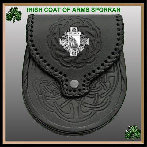 Callahan Irish Badge Leather Sporran | scottishclans.co