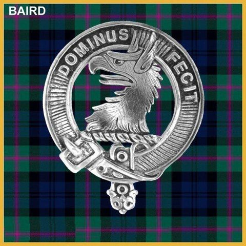 Baird Tartan Clan Crest Badge Leather Sporran TH8