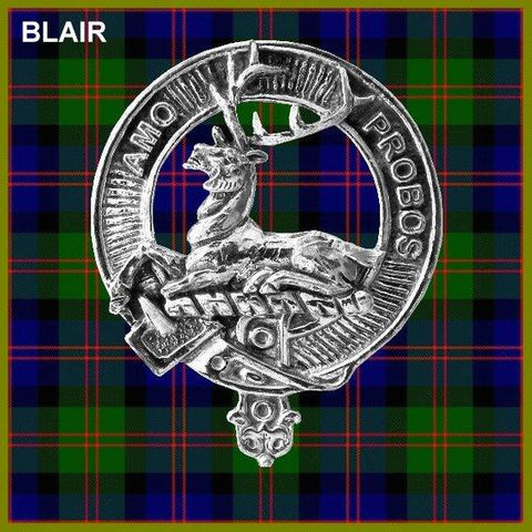 Blair Tartan Clan Crest Badge Leather Sporran TH8