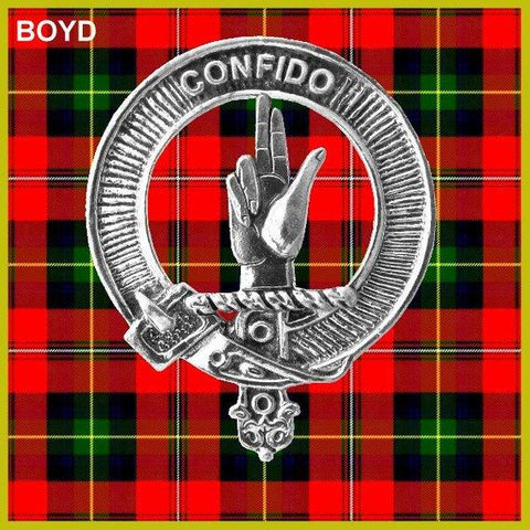 Boyd Tartan Clan Crest Badge Leather Sporran TH8