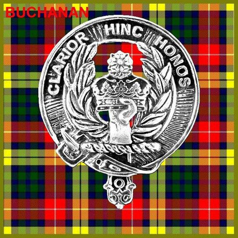 Buchanan Tartan Clan Crest Badge Leather Sporran TH8