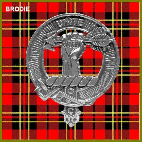 Brodie Tartan Clan Crest Badge Leather Sporran TH8