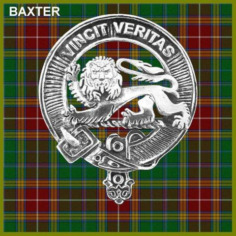 Baxter Tartan Clan Crest Interlace Kilt Belt Buckle TH8