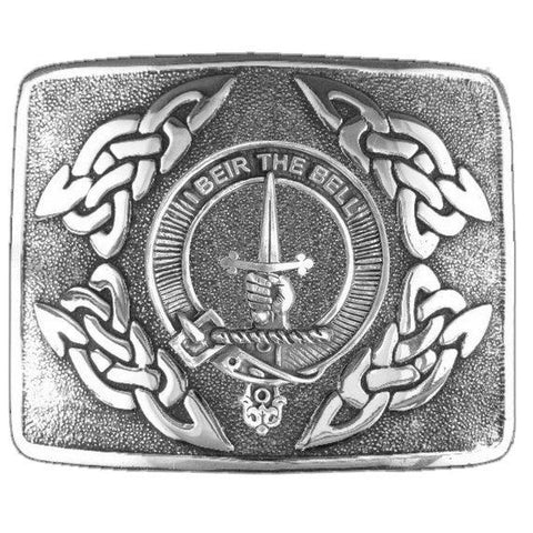 Bell Clan Crest Interlace Kilt Buckle