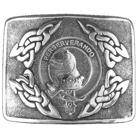 Beveridge Clan Crest Interlace Kilt Buckle | Scottish Clans