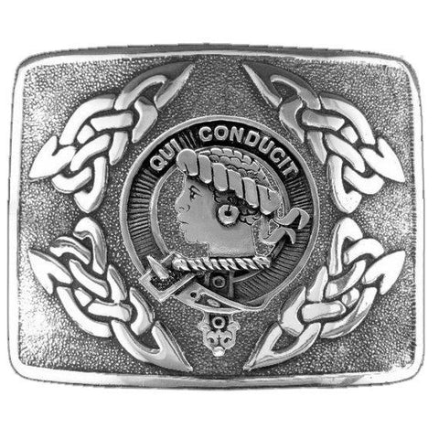 Borthwick Clan Crest Interlace Kilt Buckle | Scottish Clans