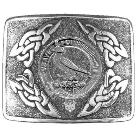 Boswell Clan Crest Interlace Kilt Buckle