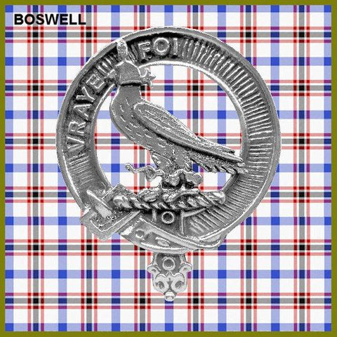 Boswell Tartan Clan Crest Interlace Kilt Belt Buckle TH8