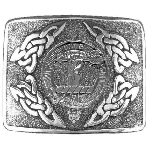 Brodie Clan Crest Interlace Kilt Buckle | Scottish Clans