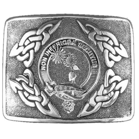 Buchan Clan Crest Interlace Kilt Buckle | Scottish Clans