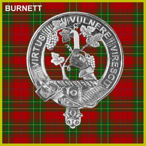 Burnett Tartan Clan Crest Interlace Kilt Belt Buckle