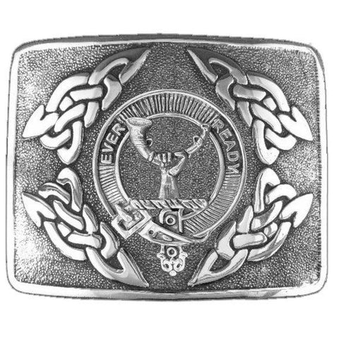 Burn Clan Crest Interlace Kilt Buckle | Scottish Clans