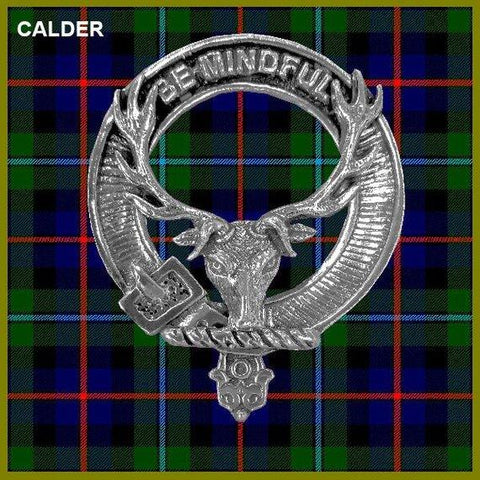 Calder  Tartan Clan Crest Interlace Kilt Belt Buckle
