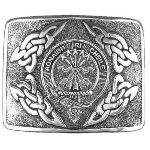 Cameron Clan Crest Interlace Kilt Buckle