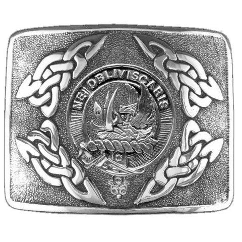 Campbell (Argyll) Clan Crest Interlace Kilt Buckle
