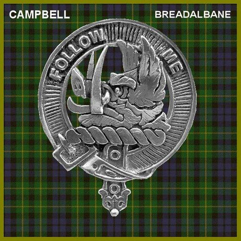Campbell (Breadalbane) Tartan Clan Crest Interlace Kilt Belt Buckle TH8