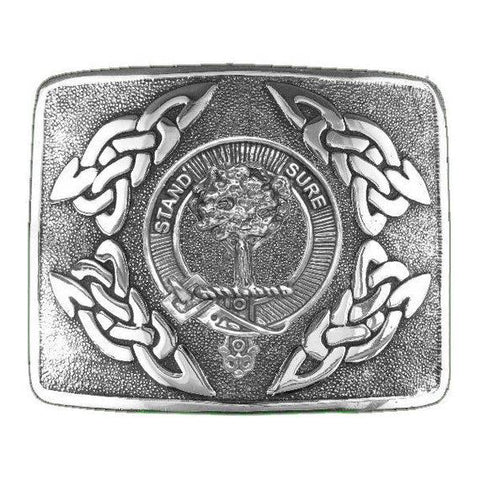 Anderson Clan Crest Interlace Kilt Buckle | Scottish Clans