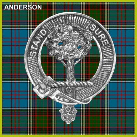 Anderson Tartan Clan Crest Interlace Kilt Belt Buckle