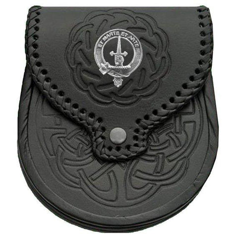 Bain Badge Leather Sporran | scottishclans.co