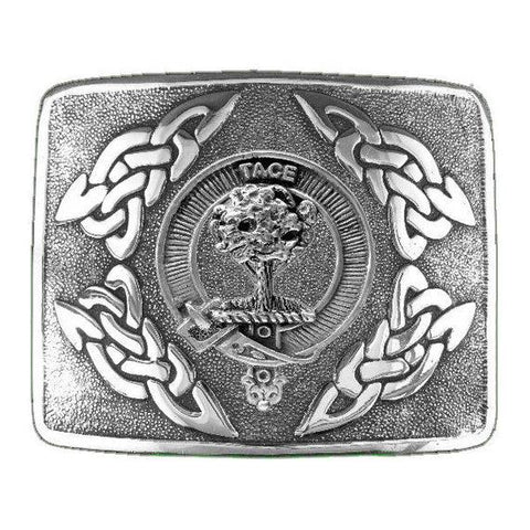Abercrombie Clan Crest Interlace Kilt Buckle | Scottish Clans