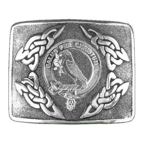 Abernethy Clan Crest Interlace Kilt Buckle