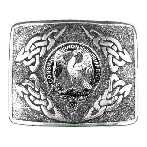 Agnew Clan Crest Interlace Kilt Buckle | Scottish Clans