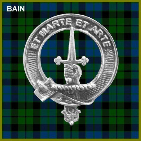 Bain Tartan Clan Crest Interlace Kilt Belt Buckle
